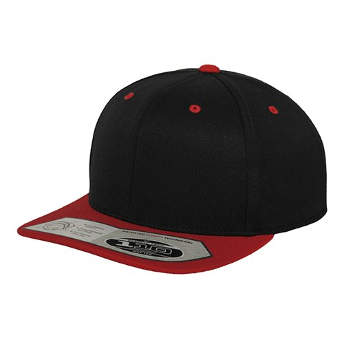 Flexfit 110 Fitted Snapback Cap black/red