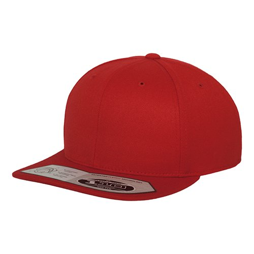 Flexfit 110 Fitted Snapback Cap red